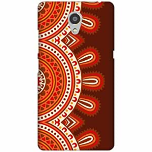 Printland Designer Hard Plastic Back Cover for Lenovo P2 -Multicolor