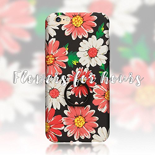 iPhone 6 6S Ring Hülle Handyhülle von NICA, Motiv Schutzhülle mit 360-Grad Fingerhalterung, Dünnes Hard-Case mit Ständer, Slim Back-Cover Etui für Apple i-Phone 6S 6 Phone, Designs:Passion Flower Gerbera