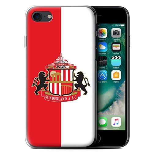 Offiziell Sunderland AFC Hülle / Gel TPU Case für Apple iPhone 7 / Rot/Schwarz Muster / SAFC Fußball Crest Kollektion Rot/Weiß