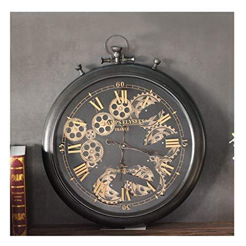 Reloj de pared Engranajes Relojes de Escritorio móvil para Sala de Estar Decoración Grande Sin tictac...