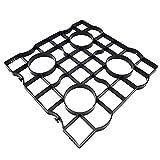 rg-vertrieb Rasengitter Rasenplatten Paddockplatten Rasenwaben Reitplatzbau Gehwegplatten 50x50x2,5 cm (16 Stück (4 m2))