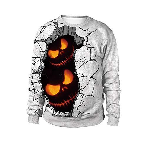 Ndier Halloween runde Kragen Fleece Red Spotted Druck Halloween Kostüme für Männer und Frauen WB102 005 |XL Schmuck