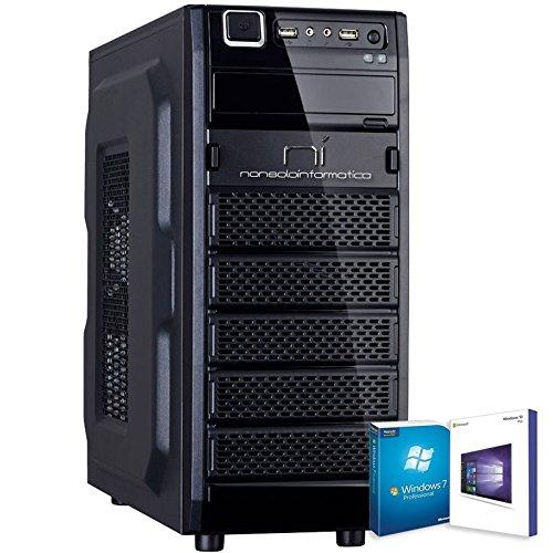PC DESKTOP CON LICENZA WINDOWS 10 pro oppure Windows 7 pro Talloncino con seriale a vostra scelta INTEL QUAD CORE RAM 8GB HD1TB DVD/WIFI/HDMI FISSO COMPLETO ASSEMBLATO