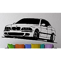 Pared Adhesivo BMW M5 E39, vinilo, negro, ...