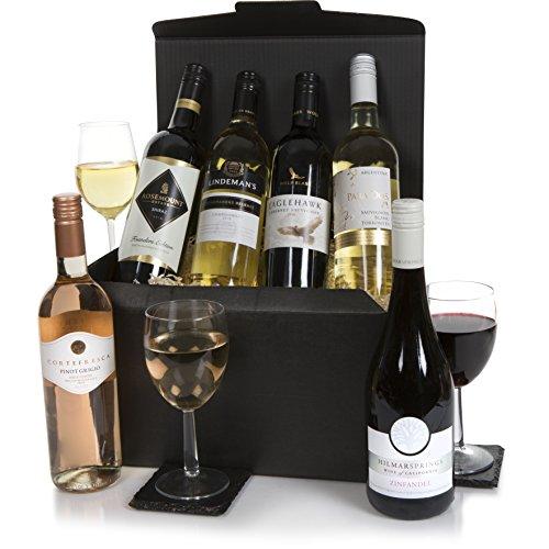 Seis botellas de vino selecto - Conjunto de vinos incluyendo vino tinto,...