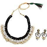 Fashionvalley Black Jeko Moti Designer Choker Necklace Set