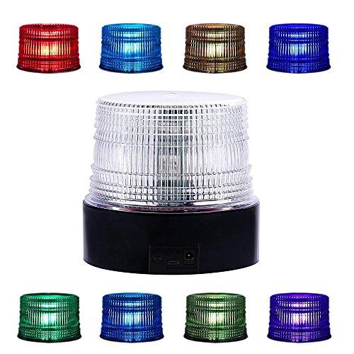 LED Beacon Strobe Light, Appow 8 Colores Ajustable Emergencia Luz Estroboscópica Giratoria con Control Remoto, Base Magnética Para DC 12-90V Encendedor de Cigarrillos Vehículos (inalámbrico Multicolor)