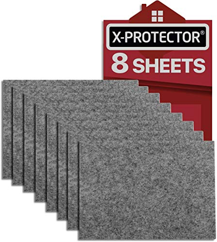 feltrini adesivi x-protector - 8 feltrini per mobili di 5mm - kit feltrini grigio - feltrini divano e altri mobili - top feltrini resistenti per fissare i mobili contro i danni!