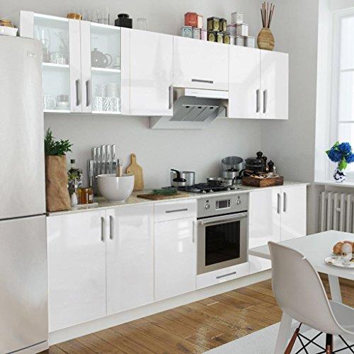 Lingjiushopping armadietto cucina lucido bianco 8 pz 260 cm specifiche armadietti: pensili da cucina