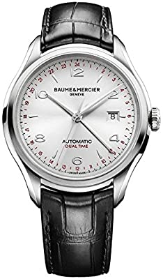 New Mens Baume & Mercier Clifton Silver Dial Automatic Watch 10112