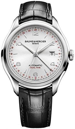New Herren Baume & Mercier Clifton Silber Zifferblatt Automatik Uhr 10112