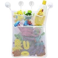 Preisvergleich für feierna 2 Stück Badewanne Netztasche Bad Spielzeug Organizer Netz Aufbewahrungstasche Tasche mit 4 Zusätzlichen Saugnäpfe
