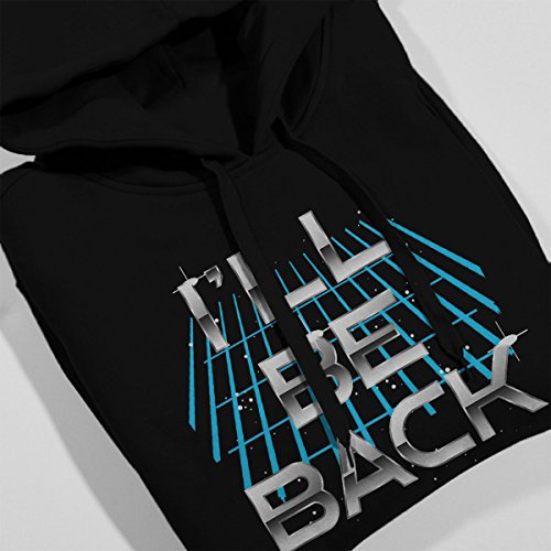 Ill Be Back Terminator Quote Women's Hooded Sweatshirt Black