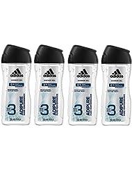 Adidas - Gel Douche 3 en 1 Adipure - 250ml - Lot de 4