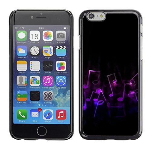 Graphic4You Music Notes Muster Design Harte Hülle Case Tasche Schutzhülle für Apple iPhone 6 / 6S Design #15