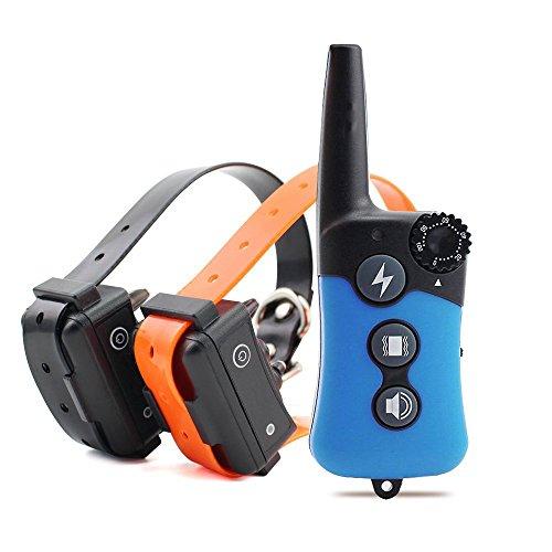 Chucalyn Collar de entrenamiento de perro, recargable e impermeable electrónico perro entrenador de la operación de ciego collar controlado con tono/vibración modo/Light, fácil de entrenar-todos los perros de tamaño