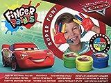 Farby do malowania palcami 4 kolory 50 ml Cars