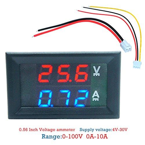 Tajie Digital Voltmeter Amperemeter DC100V 10A Panel Verstärker Volt Spannung Strom Meter Tester