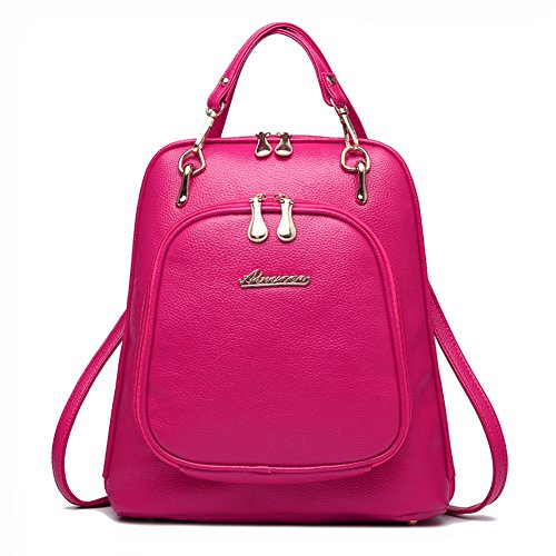 puSchulter-Rucksack aus Leder/Dual-Use-Tasche/Damentasche/Koreanische Urlaubsreisen zurück-D D