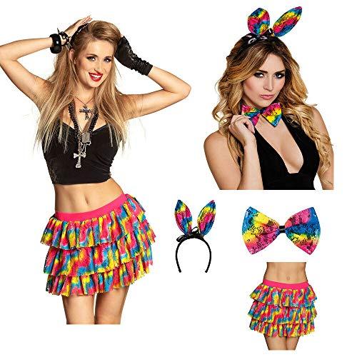 Sexy Ostern Kostüm - Unbekannt Sexy Regenbogen Bunny Kostüm Für Ostern Fasching Oder Karneval - Premium QULITÄT - vertrieb durch ABAV