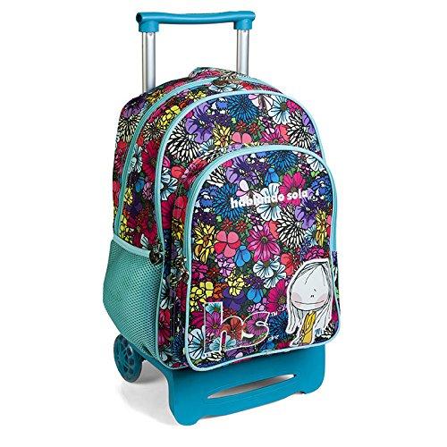 mochila escolar doble carro ruedas HABLANDO SOLA by DIS2