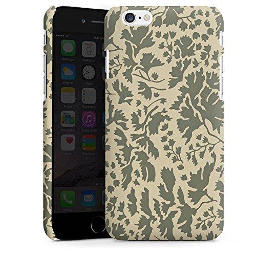 Apple iPhone 5 Housse Étui Silicone Coque Protection Motif floral Feuillage Marron Cas Premium mat