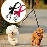 cdycam Nylon Gürtel Dog Pet Leine doppelt mehrere Zwei Wege Dog Coupler Walking Leine für zwei Pet