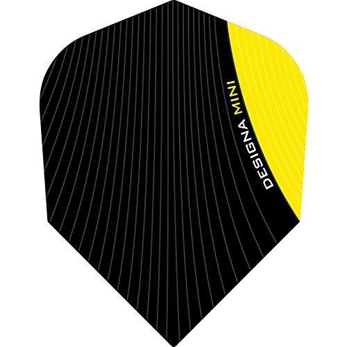 Designa Infusion Dart Flights-Mini gelb-1set (3)-inklusive Darts Ecke gebogen Kugelschreiber