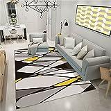 CHAI Wohnzimmer Dekorative Teppich Bodenmatte Europäischen Einfachen Stil 3D Druck Rechteck Teppich Kinder Teppich Schlafzimmer Rutschfeste Teppich Geometrische Muster Teppich Teppiche
