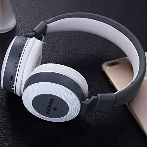 Exing Drahtloser Kopfhörer Über-Ohr-Spiel-Kopfhörer mit FM Karte DREI in Einem drahtlosen Bluetooth Kopfhörer (Farbe : B) (Fm-bluetooth Drahtlosen)