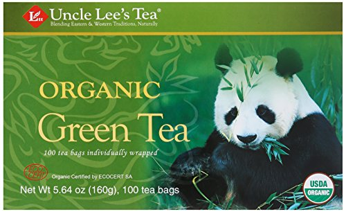 Uncle Lee's Organic Green Tea -- 100 Tea Bags net wt 5.64 oz (160g) by...