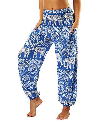 Mujer Pantalones Harem Pantalones Verano Pantalones Yoga Mujer Impresión Anchos Casuales Pantalones...