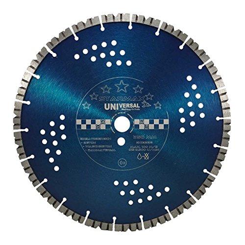 Diamant Trennscheibe Starmax Ø 350 mm | Bohrung 25,4mm | Turbosegmente 12mm - Universal