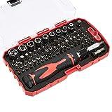 AmazonBasics Set di chiave a cricchetto e cacciavite magnetici, confezione da 73 pezzi