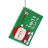 Somesun 5pz in tessuto non tessuto busta biglietto d' auguri di Natale caramelle borsa regalo natalizia da appendere