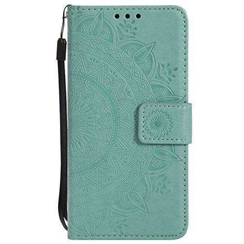 s / 6 Plus Hülle Leder, Schutzhülle Brieftasche mit Kartenfach Klappbar Magnetverschluss Stoßfest Handyhülle Case für Apple iPhone 6SPlus / 6Plus - LOHHA10509 Grün ()