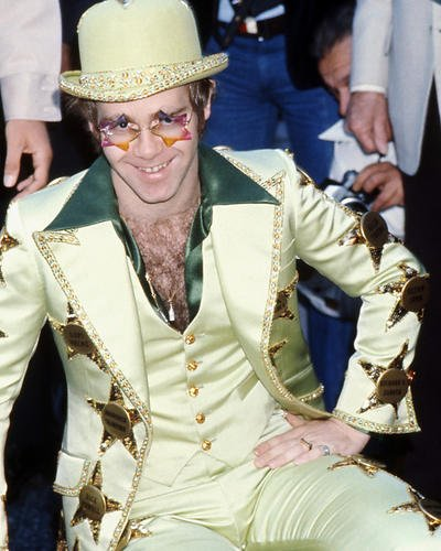 elton-john-verde-tuta-e-cappello-crazy-occhiali-da-sole-10-x-8-promozionale-fotografia