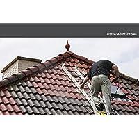 6KG Dachfarbe In Anthrazitgrau Für Ziegel, Dachpfanne, Eternit TÜV GEPRÜFT  Dachsanierung Dachbeschichtung Dachziegel