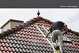 Dachbeschichtung in verschiedenen Farben seidenmatt | BEKATEQ Dachfarbe Dachsanierung Dachziegel Streichen Dachstein Lackieren Farbe für Dachgaube Dachpfannen Blechdach Flachdach Dach Farben Lack (1L, Anthrazitgrau)