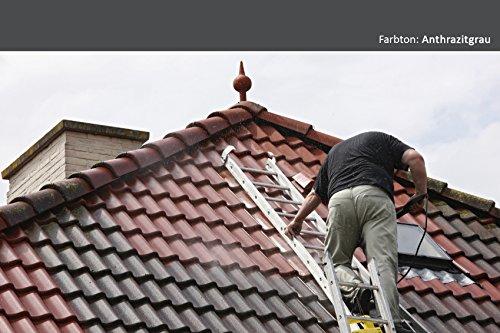 BEKATEQ BE-510 Dachfarbe, 10l Anthrazitgrau, für Ziegel, Dachpfanne, Eternit - Dachsanierung Dachbeschichtung Dachziegel Farbe