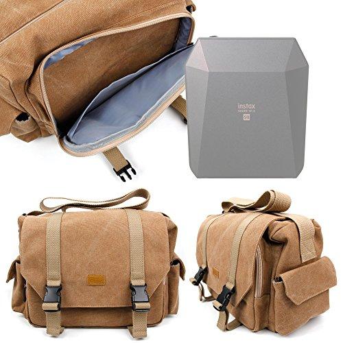 Galleria fotografica DURAGADGET Borsa Professionale Canvas Per Stampante portatile Fujifilm Instax Share SP-3 SQ - Con Tracolla Regolabile E Numerosi Scomparti
