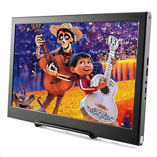 Monitor Display IPS Bildschirm-13,3 Zoll LED Kleine tragbare 1920*1080p Monitor mit HDMI-Eingang für Raspberry Pi 3B 2B B + PC CCTV-Kamera Auto DSLR-Rückfahrkamera Xbox 360 Windows 7/8/10 Elecrow