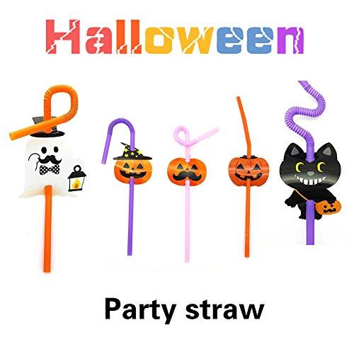 loween trinken Strohhalme - Plastik Strohhalme für Fiesta Party Supplies, Halloween Party Supplies, Braut Party Supplies (Halloween-fiesta)