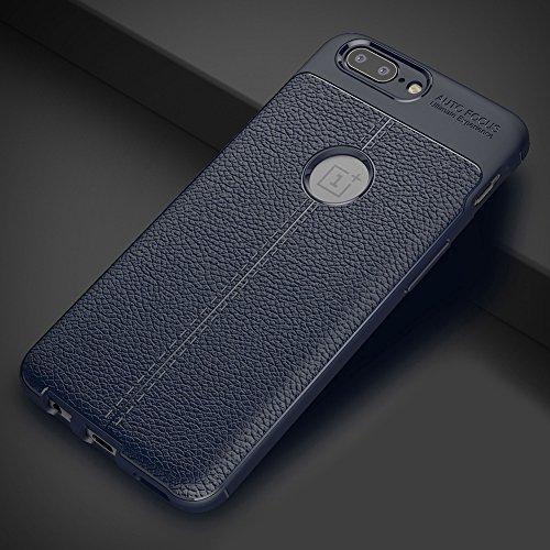 Coque OnePlus 5, MSVII® Anti-Shock Silicone TPU Souple Coque Etui Housse Case et Protecteur écran Pour OnePlus 5 - Rouge / RED JY90118 Bleu