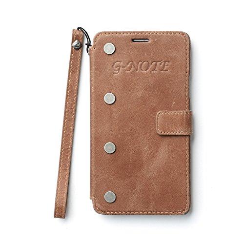 Zenus ZA400465 G-Note Diary in Vintage Braun für Samsung Galaxy Note 4 GT-N7000