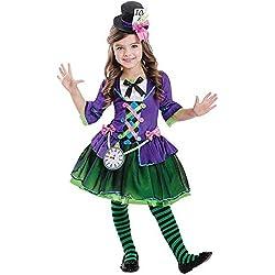 aab8c4ed325f2 Amscan Disfraz de gótico Sombrerero Loco gótico para niños XL (11-12 Years)