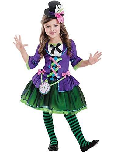 Amscan Kinder Gothic Dark Mad Hatter Girl Kostüm XL (11-12 Years)