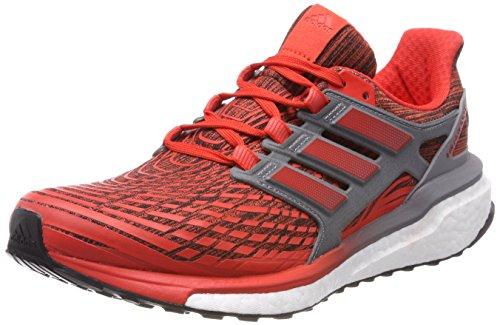 Adidas Energy Boost M, Scarpe Running Uomo, Rosso Hirere/Grethr, 42 EU