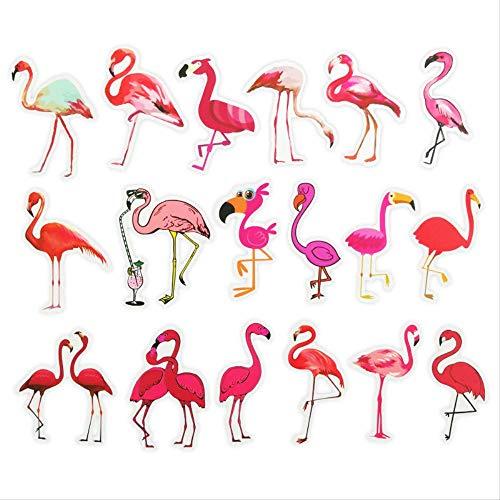 Nordic Ins Flamingo Cartoon Koffer Pull-Bar Koffer Wasserdicht Aufkleber Gitarre Panel 18 Plakat