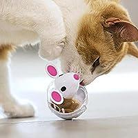 Pawaca Intelligenzspielzeug Für Katzen, Snackball Katze, Interaktiver Leckerli-Ball für Katzen, Erhöht Den IQ und Die Mentale Stimulation, Mausmodell Ist für Katzen Attraktiver.